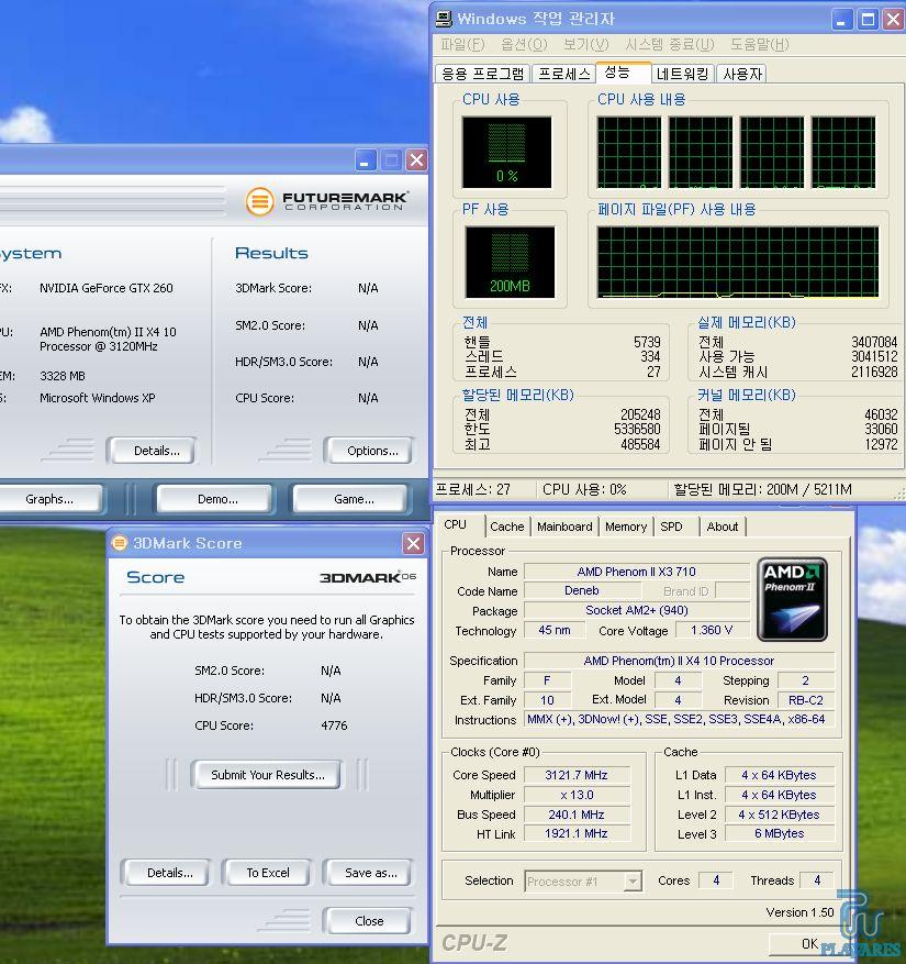 Phenom II x3 710 run with 4 core!